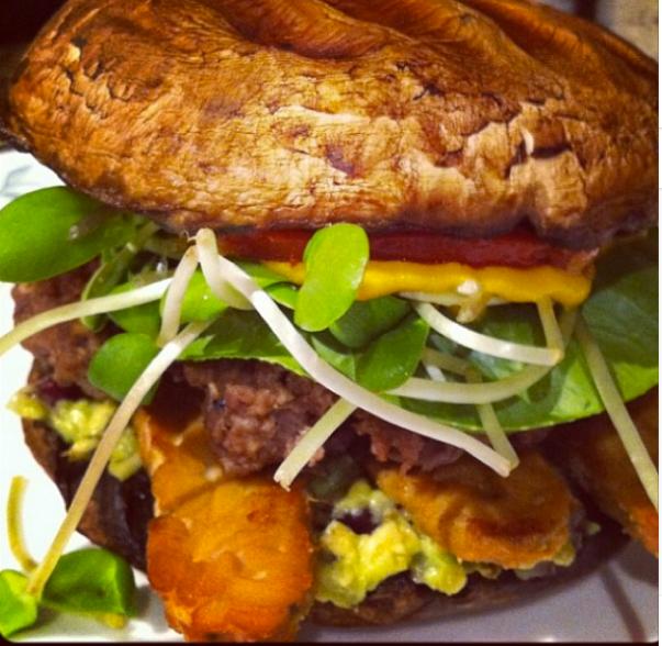Portobello Bun Burger!